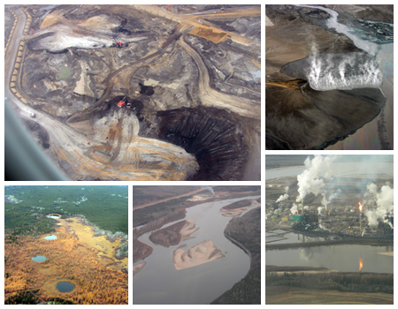 (Tar Sands Collage. Image by Jumgbim via Wikimedia)