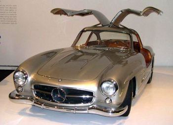 The 1955 model of the original Mercedes Gullwing